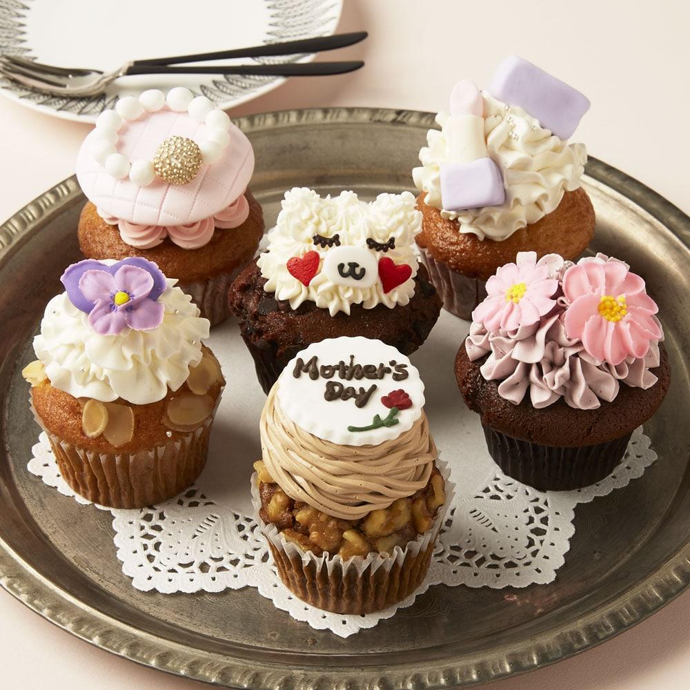 母の日カップケーキ 6個入り(母の日カード付)