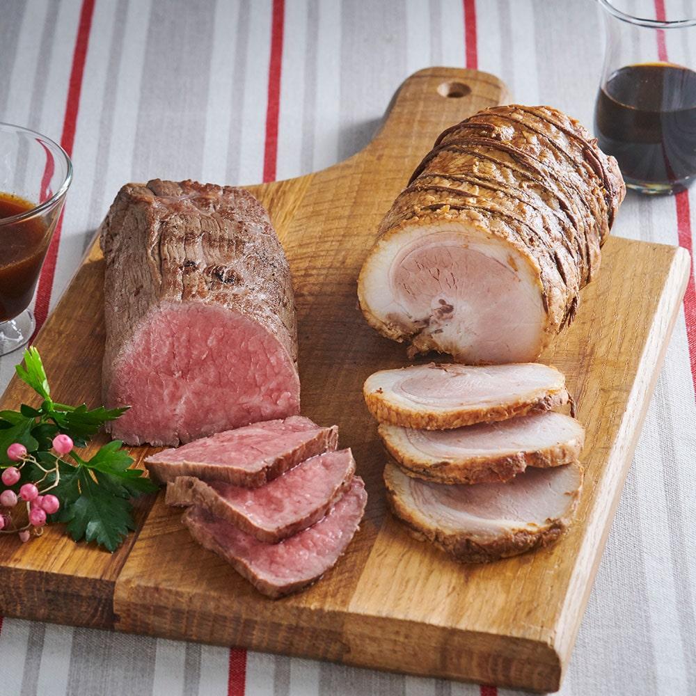黒毛和牛ローストビーフと自家製焼豚ギフトセット