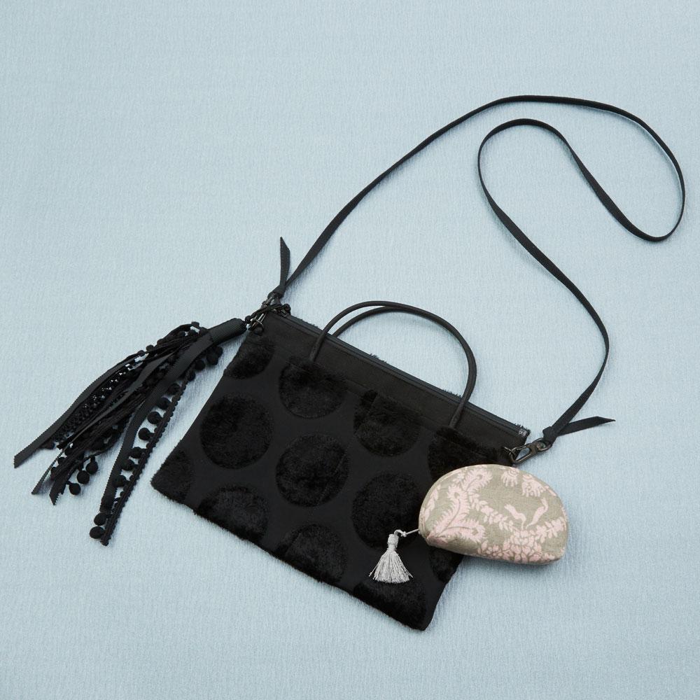 タッセル付き軽量茶礼袋 2way斜めかけバッグ