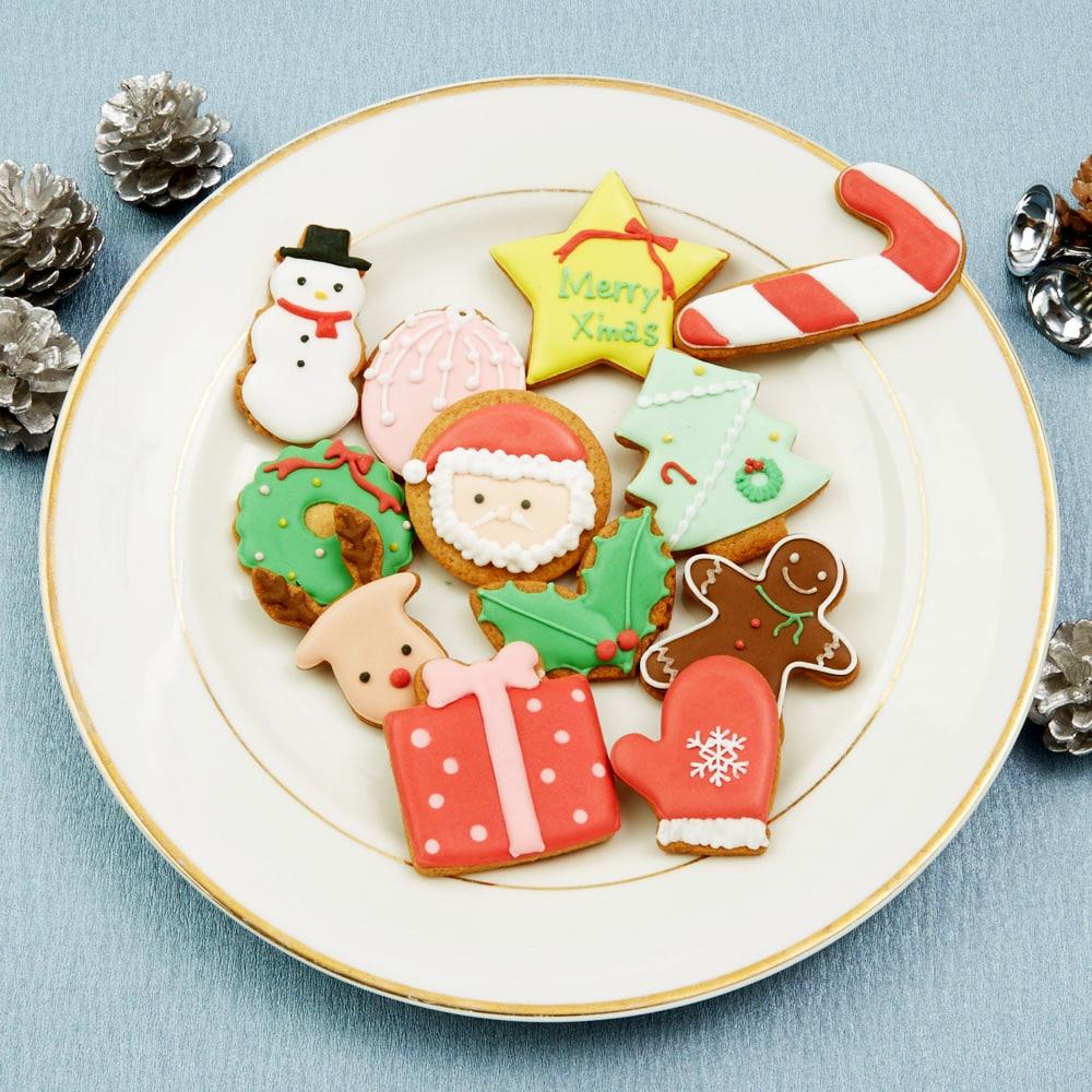 クリスマスアイシングクッキー 12枚