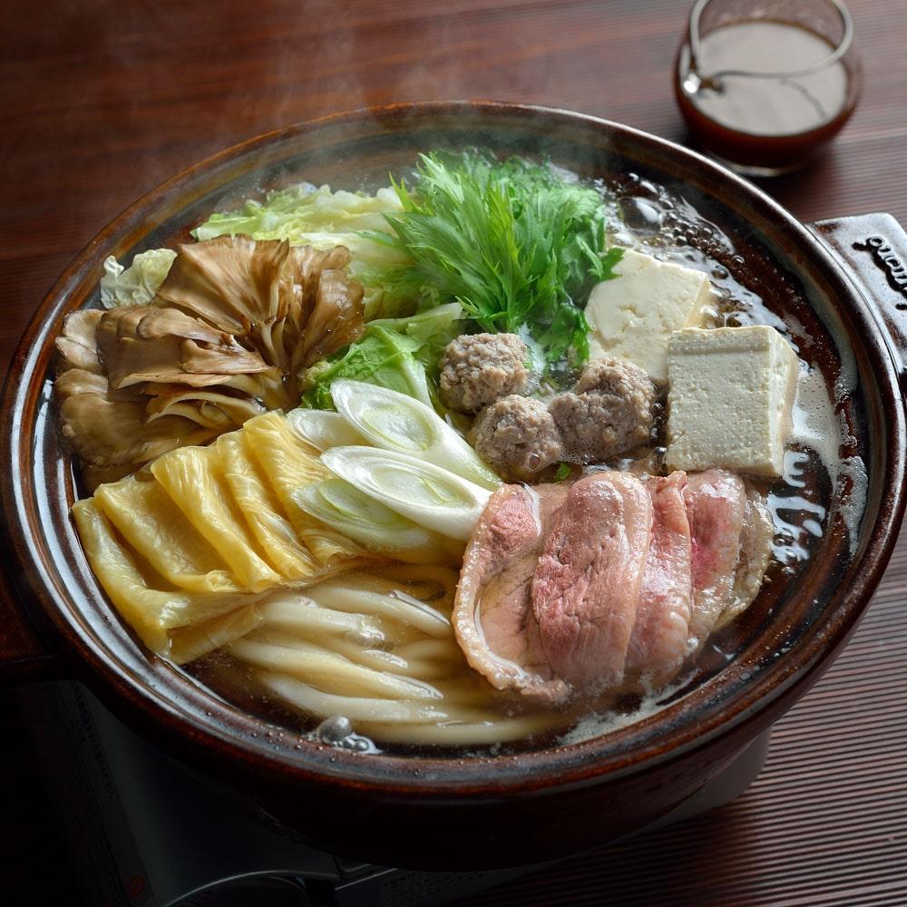 京の鴨鍋うどんすきセット