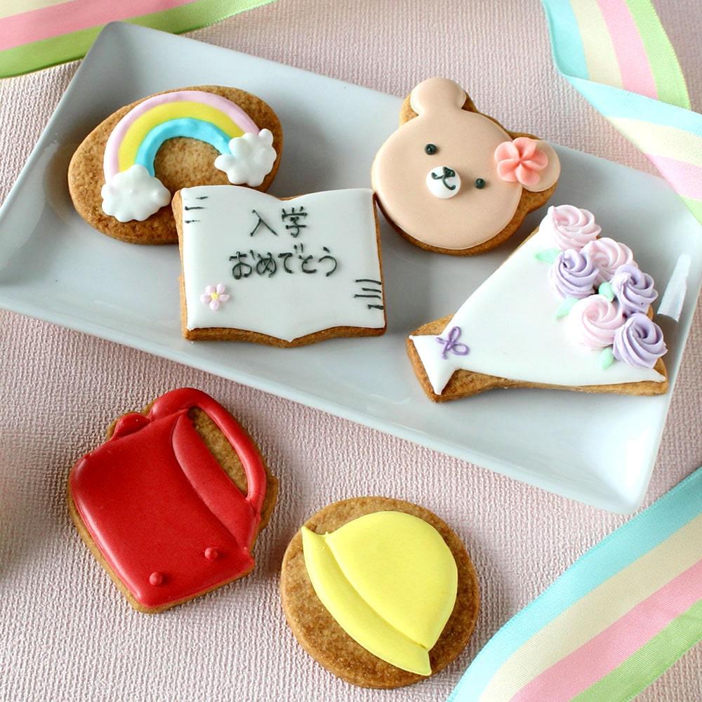 入学おめでとうアイシングクッキー(赤ランドセル) 6枚入り