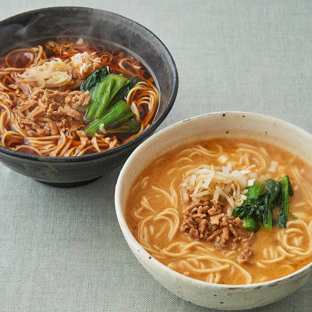 楽仙樓 黒酢麺と担々麺 4食セット