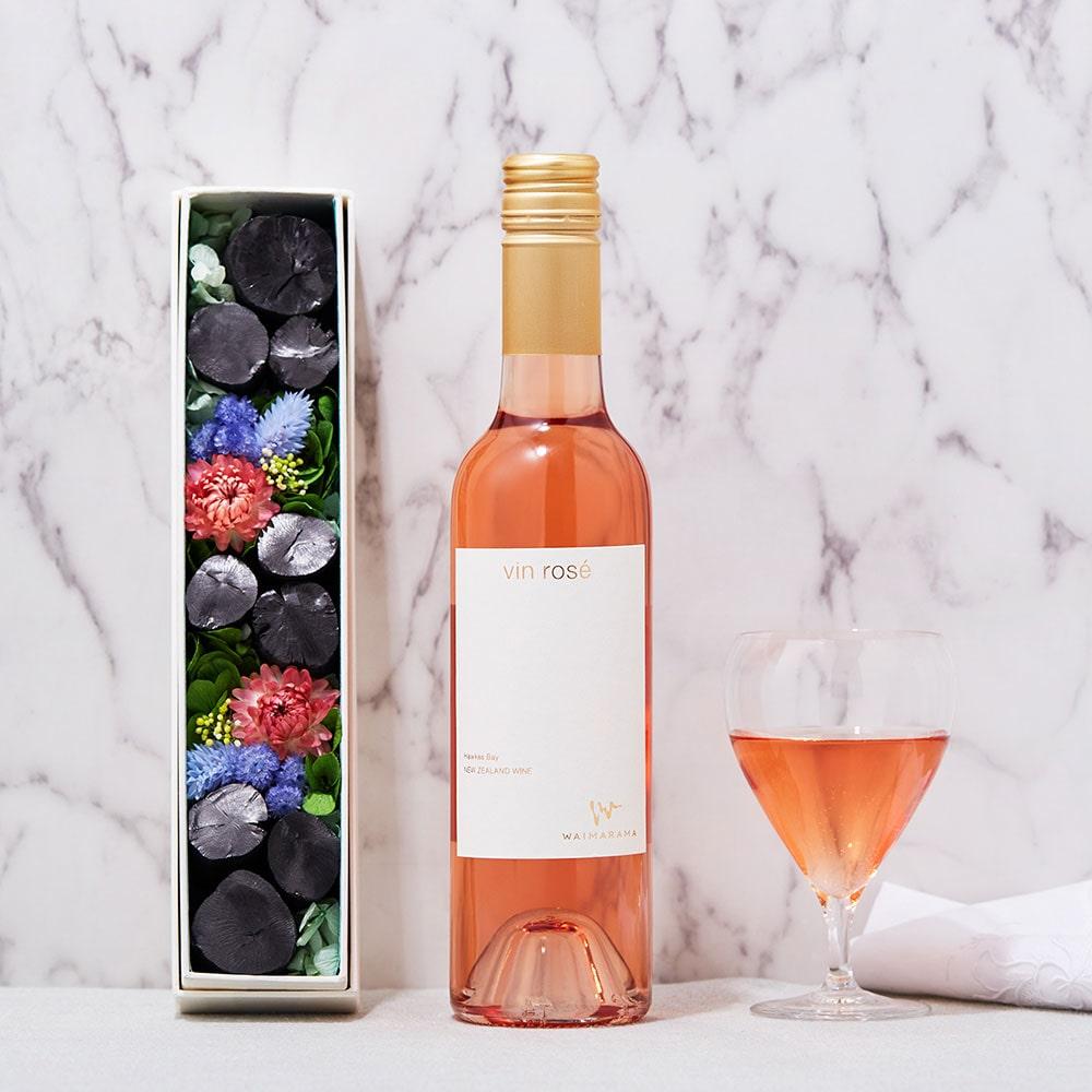 ワイマラマジャパン株式会社 「vin rose 2019(ロゼワイン)」ハーフ「銀座紀州備長炭ショップ 掌」コラボセット