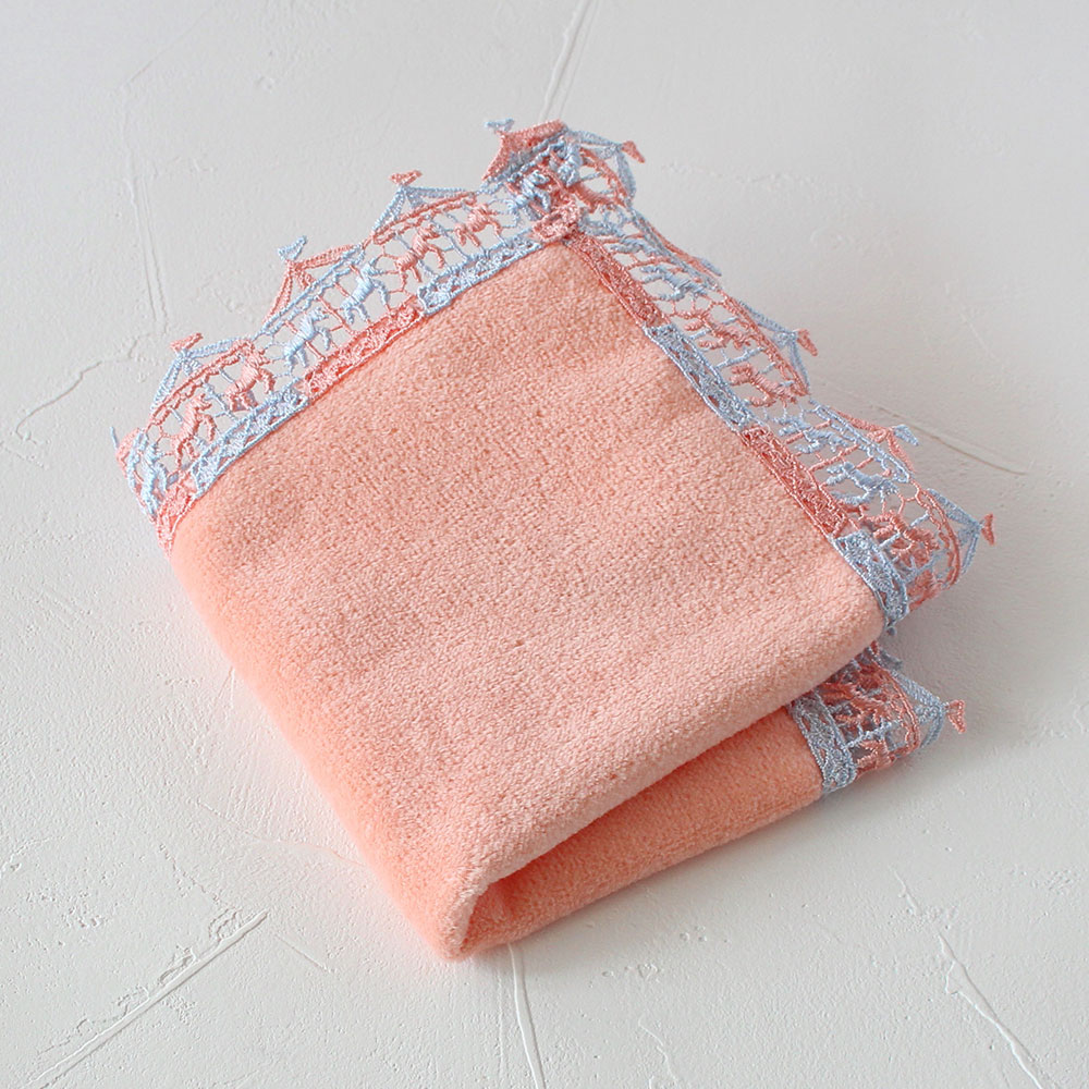 ミニタオルハンカチメリーゴーランド ピンク