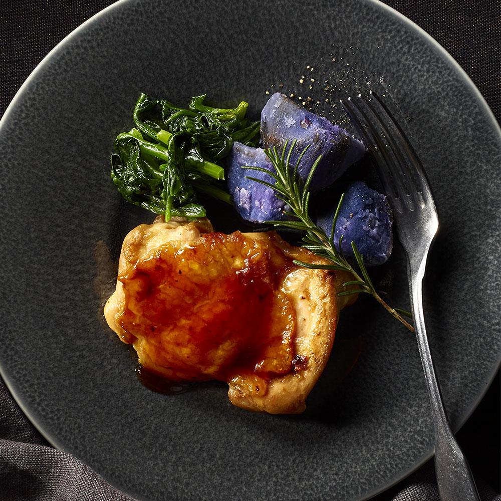 鶏もも肉の照焼ステーキ