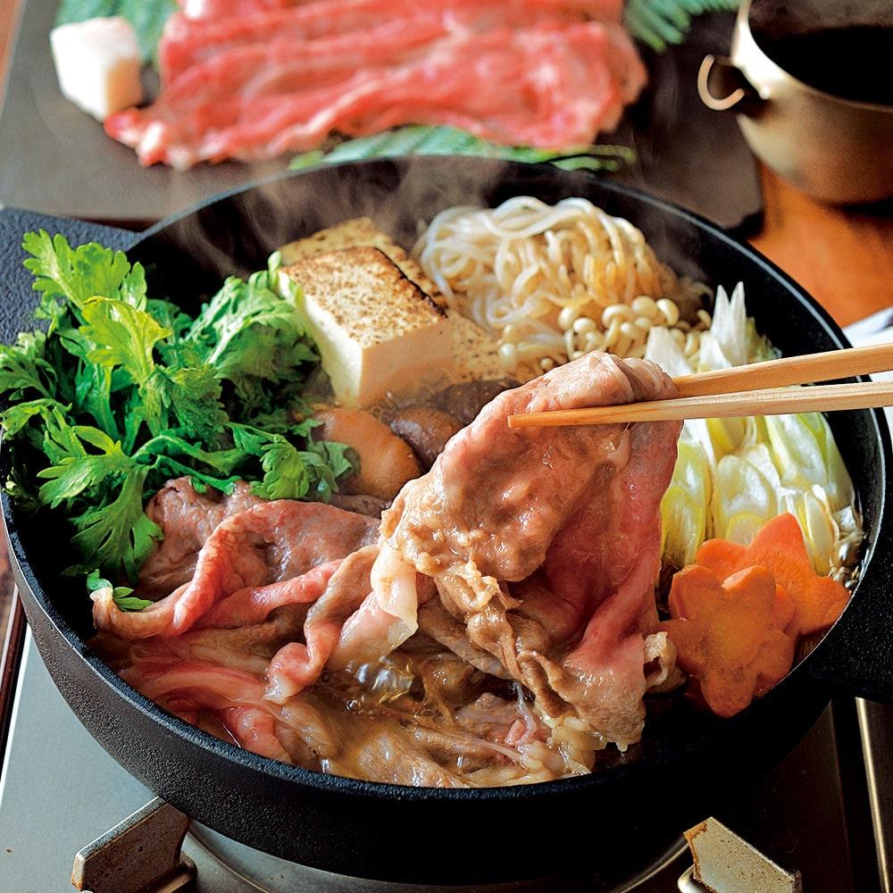 黒毛和牛すき焼きセット(野菜付)