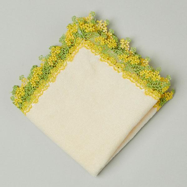 ミニタオルハンカチ 菜の花 アイボリー