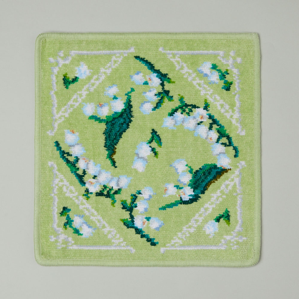 フロランスミュゲ ハンカチ ペールグリーン