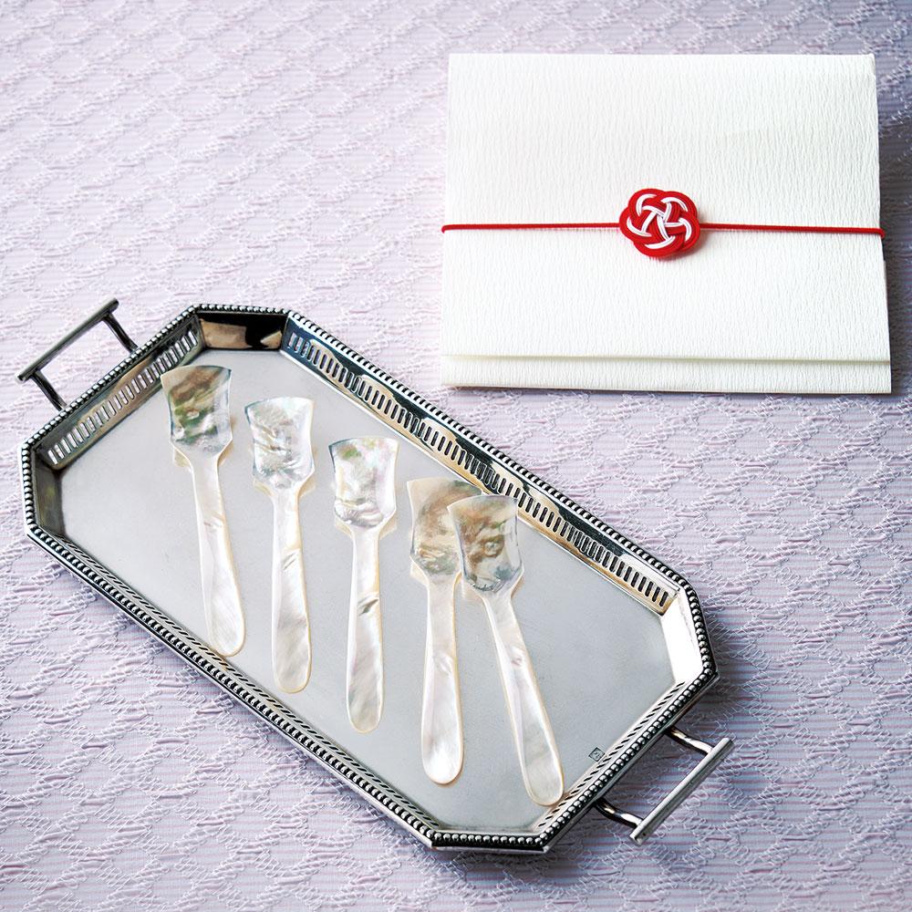 白蝶貝真珠の母貝のスプーン 5本組