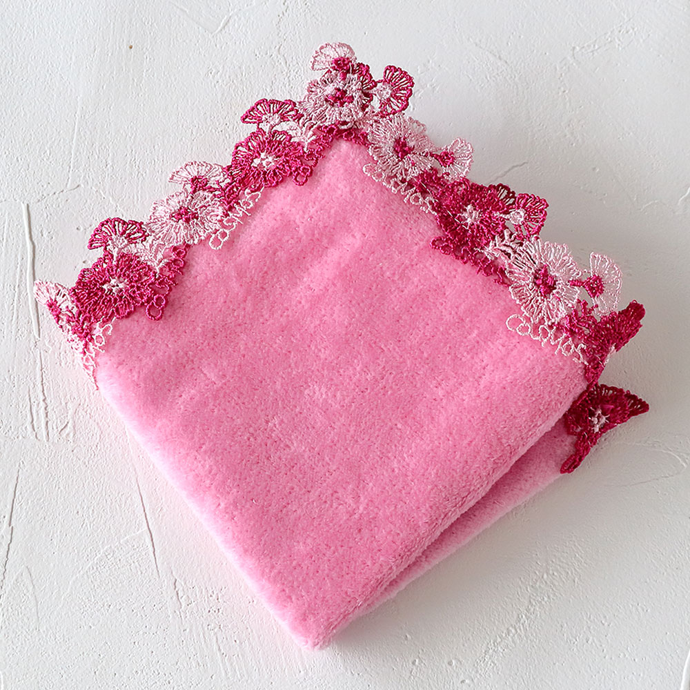 ミニタオルハンカチ コスモス ピンク