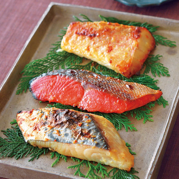 甘鯛・鰆西京漬け、鮭粕漬けセット 8切入り