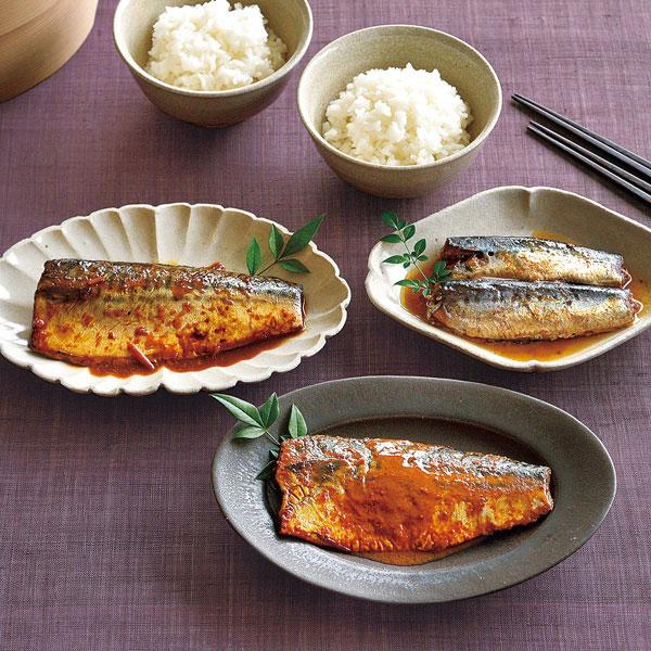 骨ごと食べられる煮魚 3種セット8袋入り