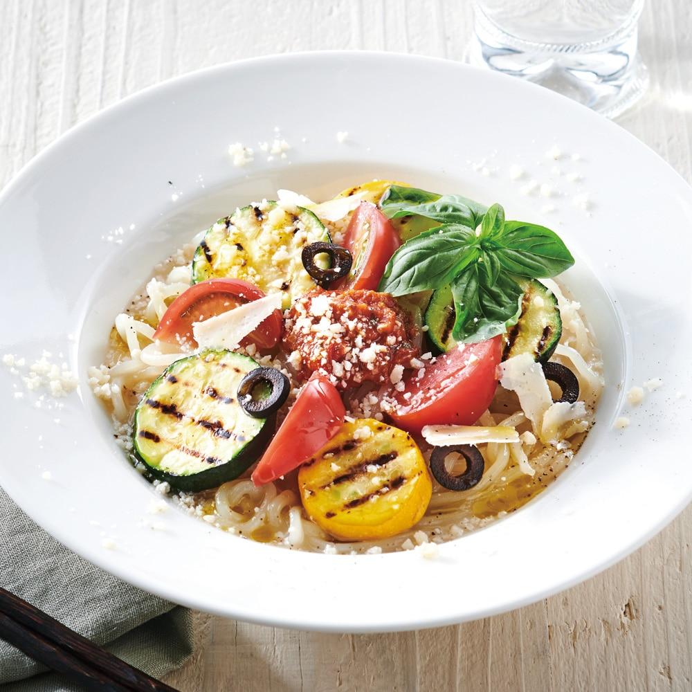 トマト×バジル×冷麺