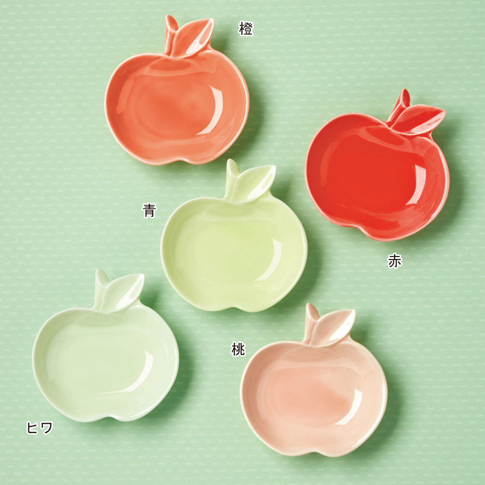 リンゴ 小皿 5枚組
