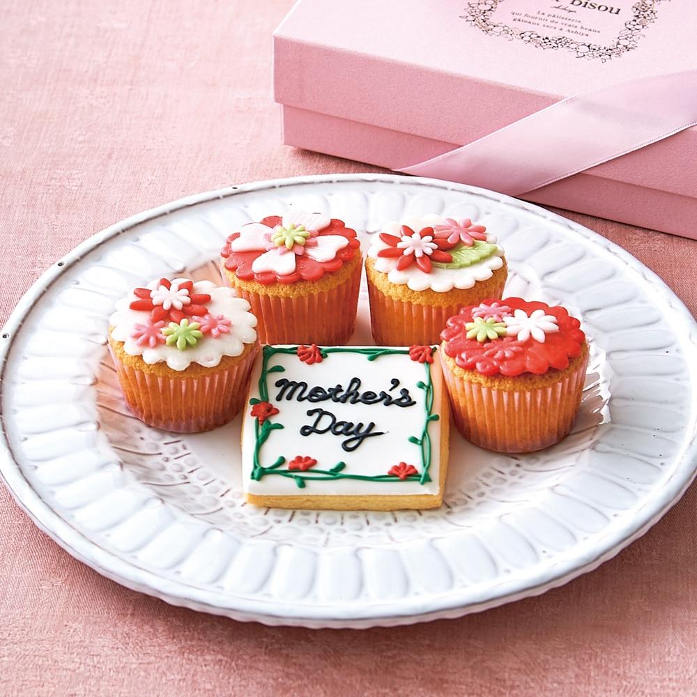 母の日 カップケーキ&アイシングクッキーセット(母の日カード付)