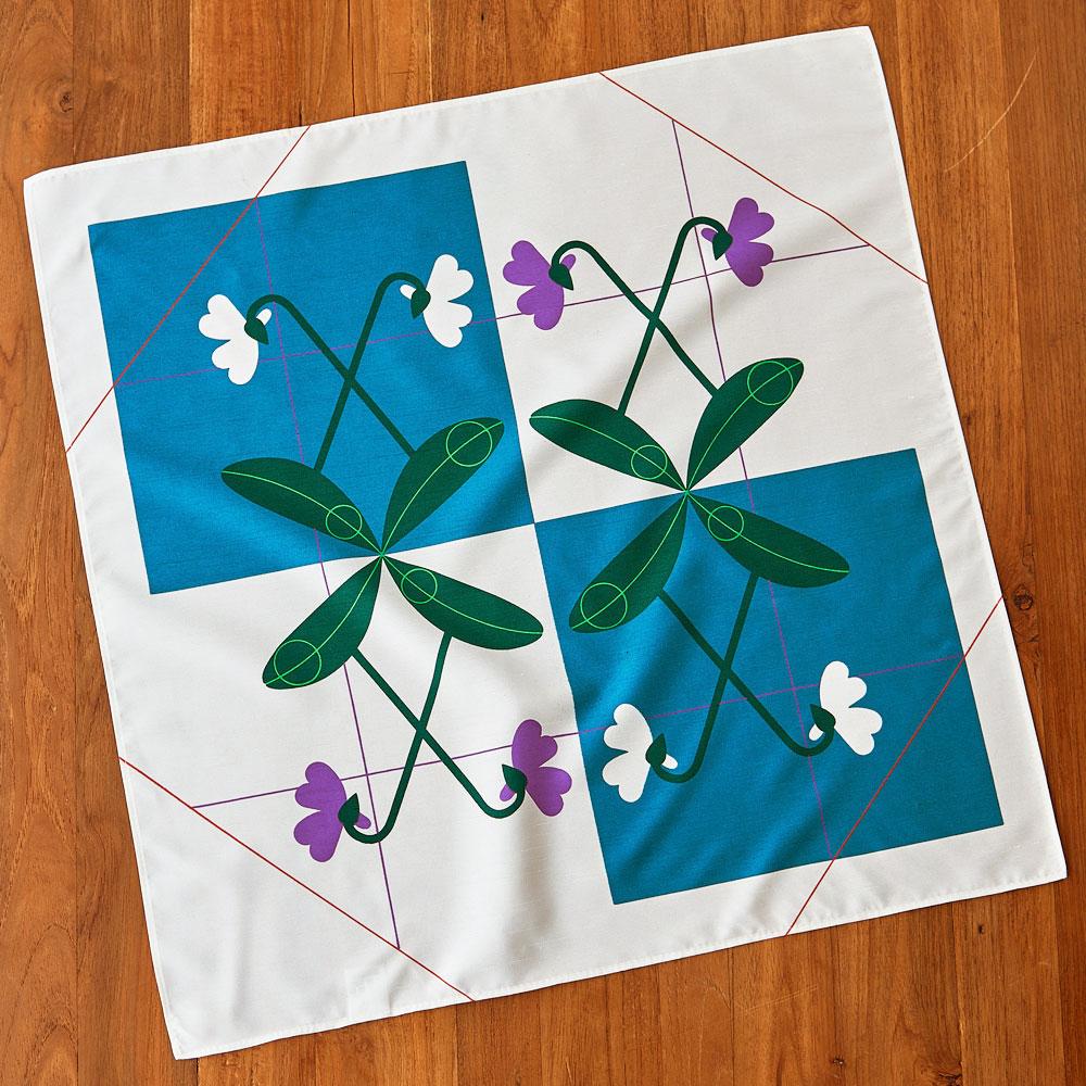 木々花々 すみれ ブルー
