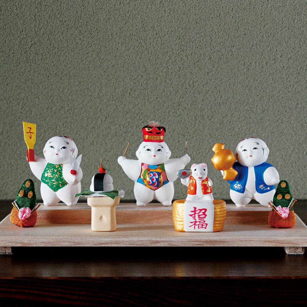 豆御所人形 お正月飾り「招福」