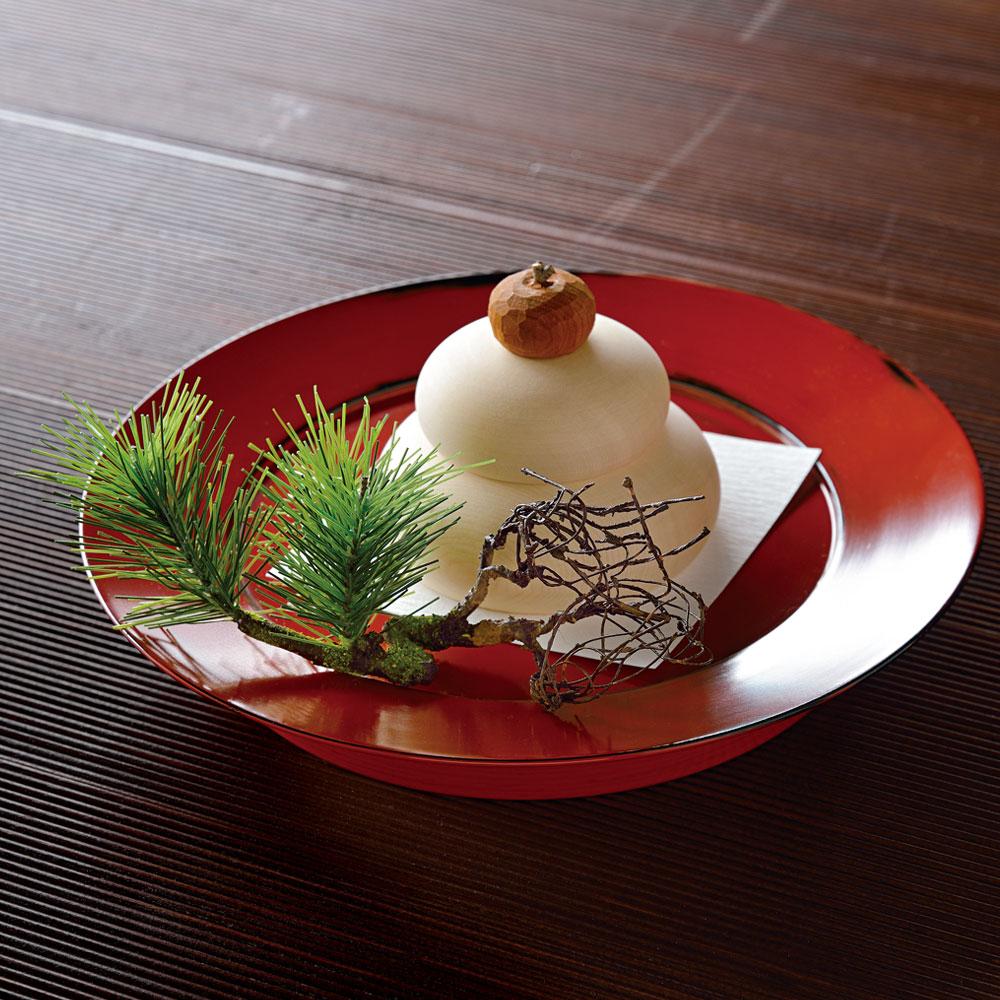 蓬莱飾り「福寿」村瀬治兵衛さんの根来盆付き