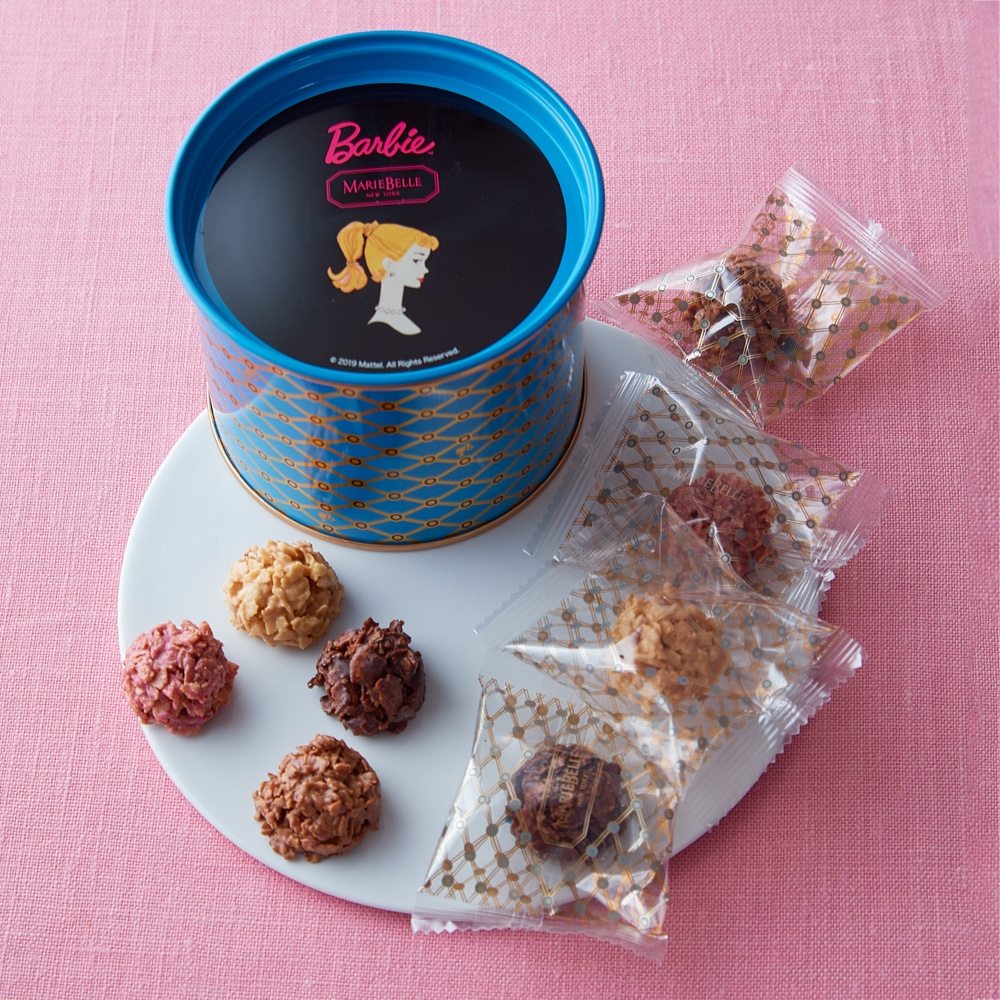60th Anniversary Barbie×Mariebelle Chocolate ClusterTin(チョコレートクラスター缶) 8個入り