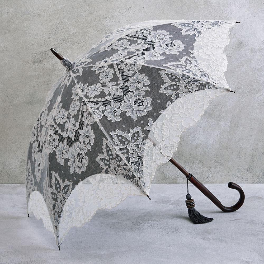 リヨンレース日傘 ブラック