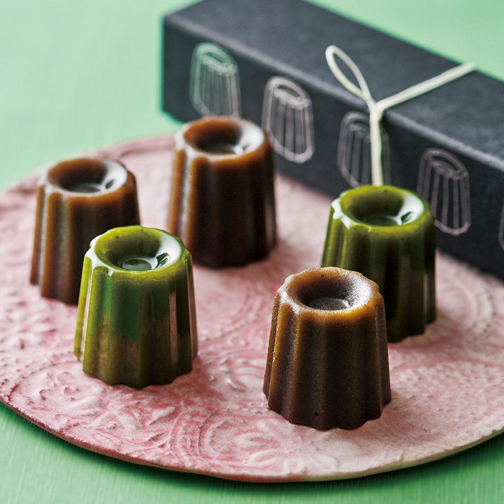 カヌレ羊羹(焙じ茶・抹茶)5個入り×2箱セット