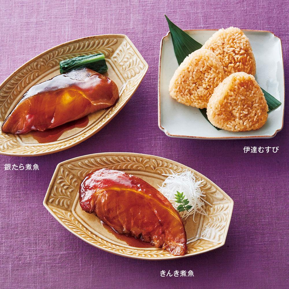 吉結びセット(煮魚2種と伊達むすびの詰合せ)