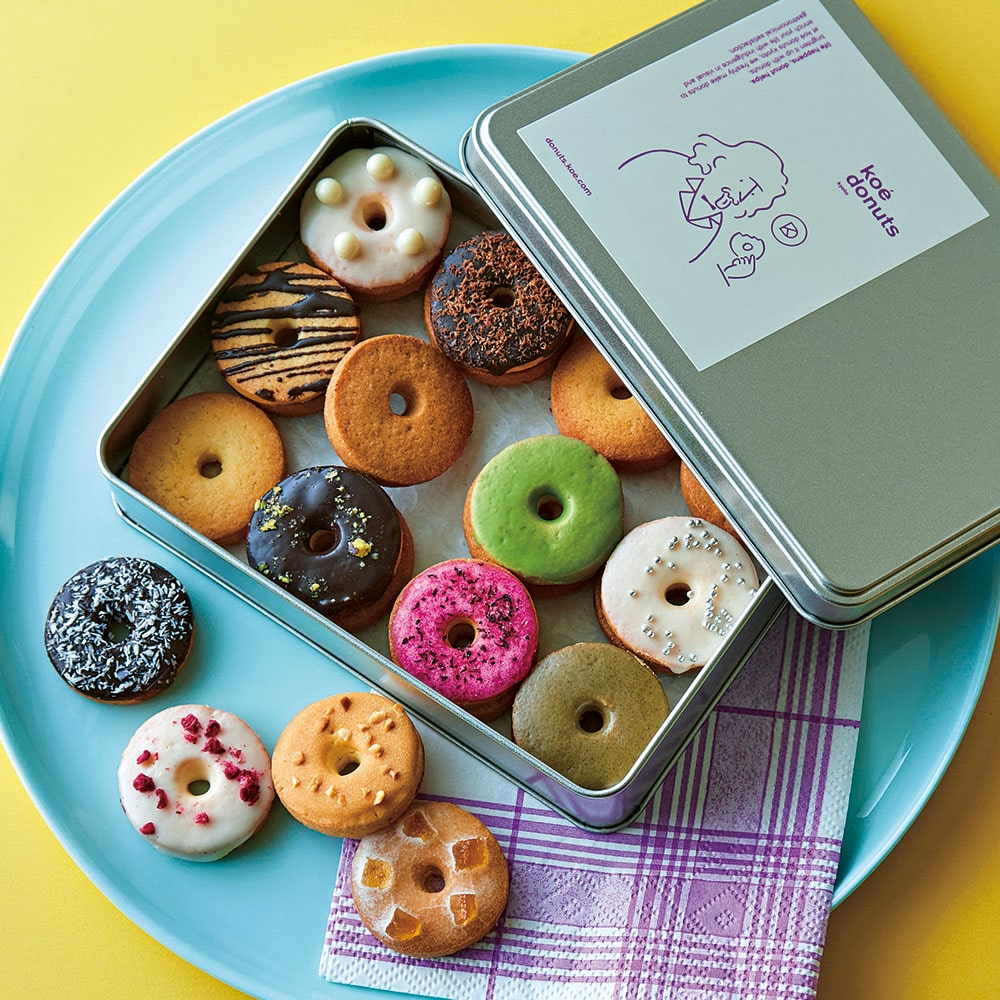 koe donuts クッキー缶