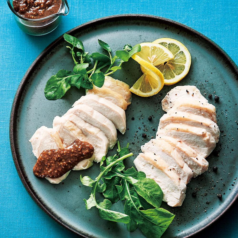 肥後のうまか赤鶏蒸し鶏・胡麻ダレセット