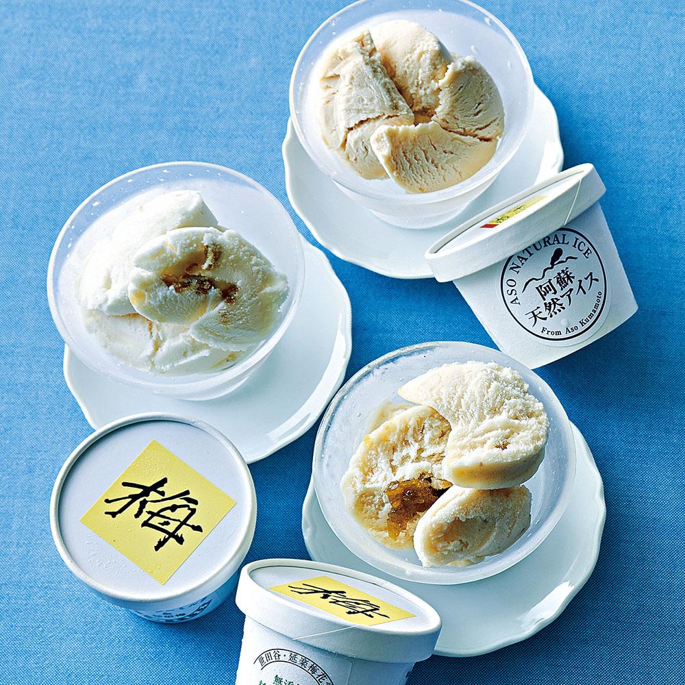 杉田梅・玄米のアイス詰合せ 3種8個入り
