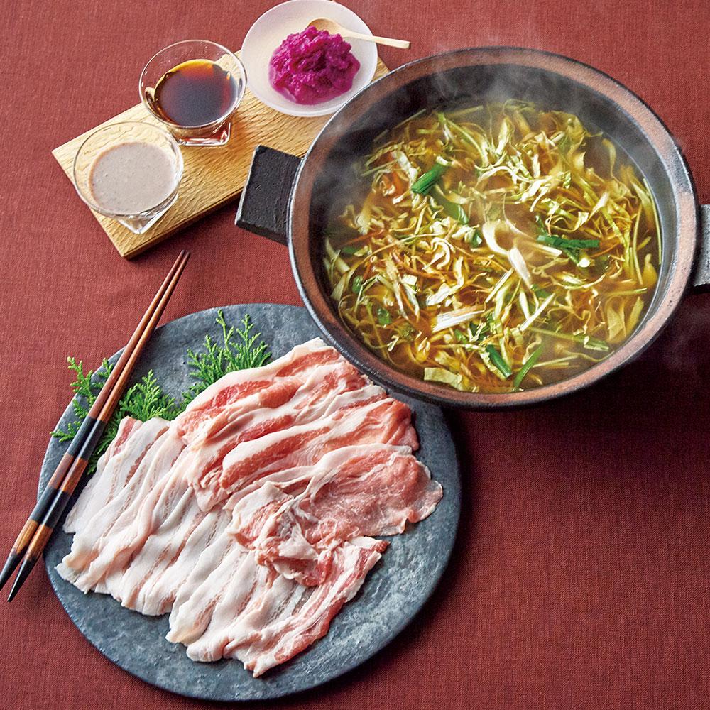 関牧漢方三元豚の「食労寿(くろす)」鍋2〜3人前