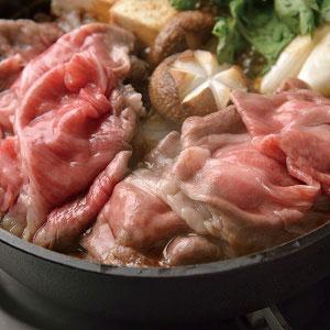Bセット(肩ロース)すき焼き用米沢牛&山形牛(木箱入り)