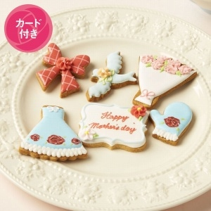母の日アイシングクッキー 6枚入り(母の日カード付)