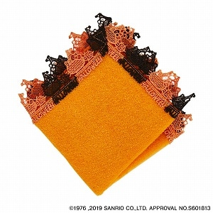 ハローキティタオルハンカチ ハロウィーン オレンジ