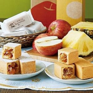 パイナップル&りんごケーキセット