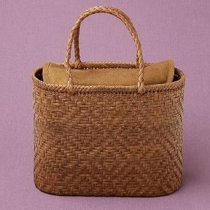 山ぶどう籠バッグ 小桝網代編み(小判型)