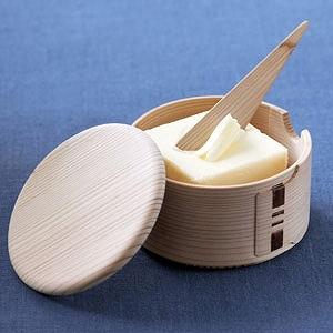 白木バターケース(丸)