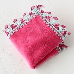 ミニタオルハンカチ かき氷 ピンク