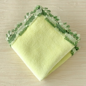 ミニタオルハンカチ 枝豆 グリーン