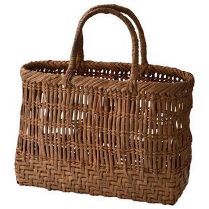 山ぶどうかこべ下網代こだし4段編み籠バッグ