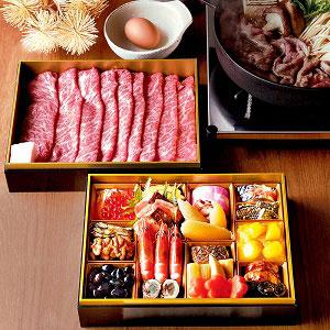 おせち和一段と松阪牛すき焼き重セット