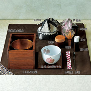 くるみの茶箱 山桃茶碗セット