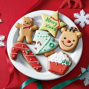 クリスマスアイシングクッキー6枚入り