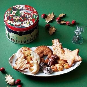 クリスマスクッキー缶