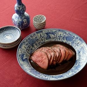 木乃婦特製 赤味噌と京野菜のローストビーフ