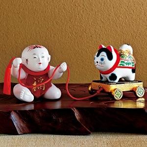 御所人形 「犬車曳き」
