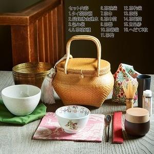 旅持ち茶籠「万歳楽」〜お茶を愉しむ16の道具 b