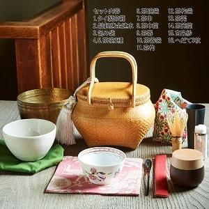 旅持ち茶籠「万歳楽」〜お茶を愉しむ16の道具 c