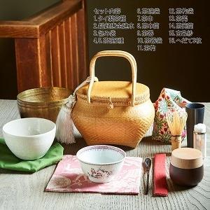 旅持ち茶籠「万歳楽」〜お茶を愉しむ16の道具 d
