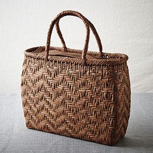 山ぶどう籠バッグ 杉綾(すぎあや)網代編み